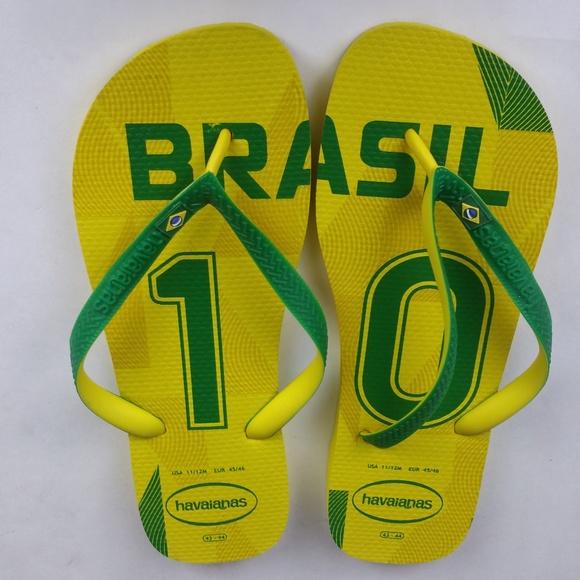 c307b8d0eec51 Havaianas Other - Men s Havaianas Flip Flops Brasil 10 Yellow Green